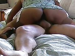 Asian mature wife fucking in new tan stockings & heels