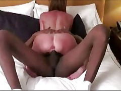 Nice skinny mature wife takes a BBC pounding!