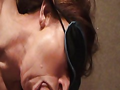 Mature MILF Marcy blindfolded BJ