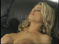 Lovely Briana Banks gets her large tits sucked on couch before big dick fuck