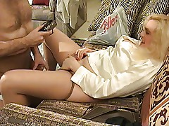 Sticking his Nyloned Cock into my Cunt...