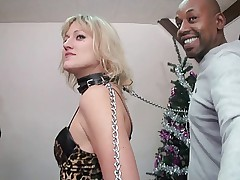 FRENCH MATURE 10  blonde mom slave in interracial gangbang