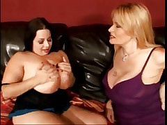 Young BBW girl + Old Big Boobs Mature.By PornApocalypse