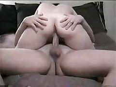 Mature wife riding hubby