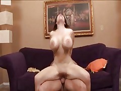 Mature lady with huge boobs loves to jump on strong dick