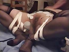 Tied mature slut loves to be used. Amateur home made video